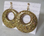 Sincerely April gold-sparkle hoop earrings
