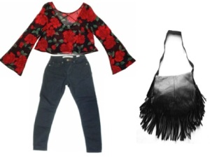 Top $34 Pants $36 Leather Fringe bag $110